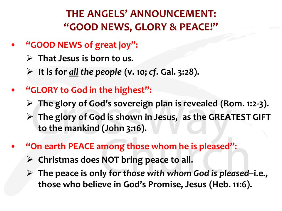 HOW SHOULD RESPOND TO THE GOOD NEWS OF CHRISTMAS.