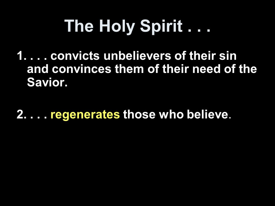 generate = to give life Regenerate = to bring back to life Regeneration is the work of God whereby a spiritually dead person becomes a spiritually alive person.