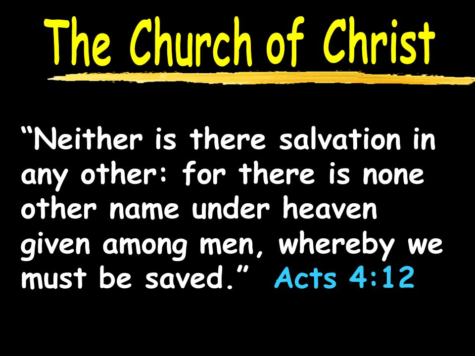 Neither is there salvation in any other: for there is none other name under heaven given among men, whereby we must be saved. Acts 4:12