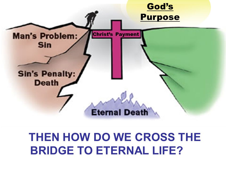 God's Purpose Christ's Payment THEN HOW DO WE CROSS THE BRIDGE TO ETERNAL LIFE?