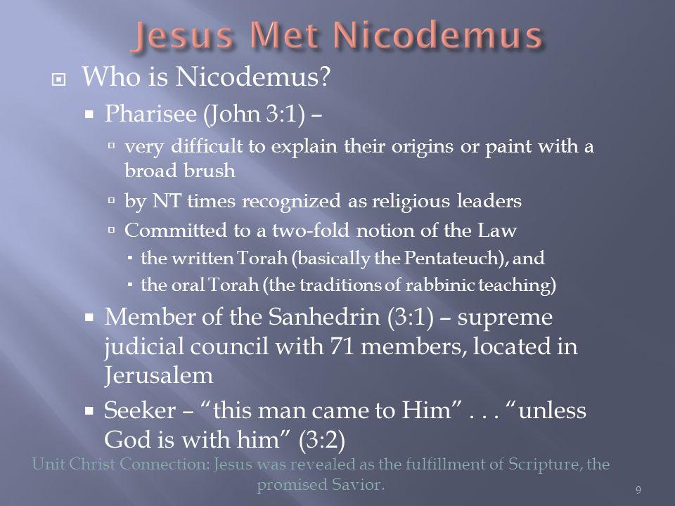  Who is Nicodemus.