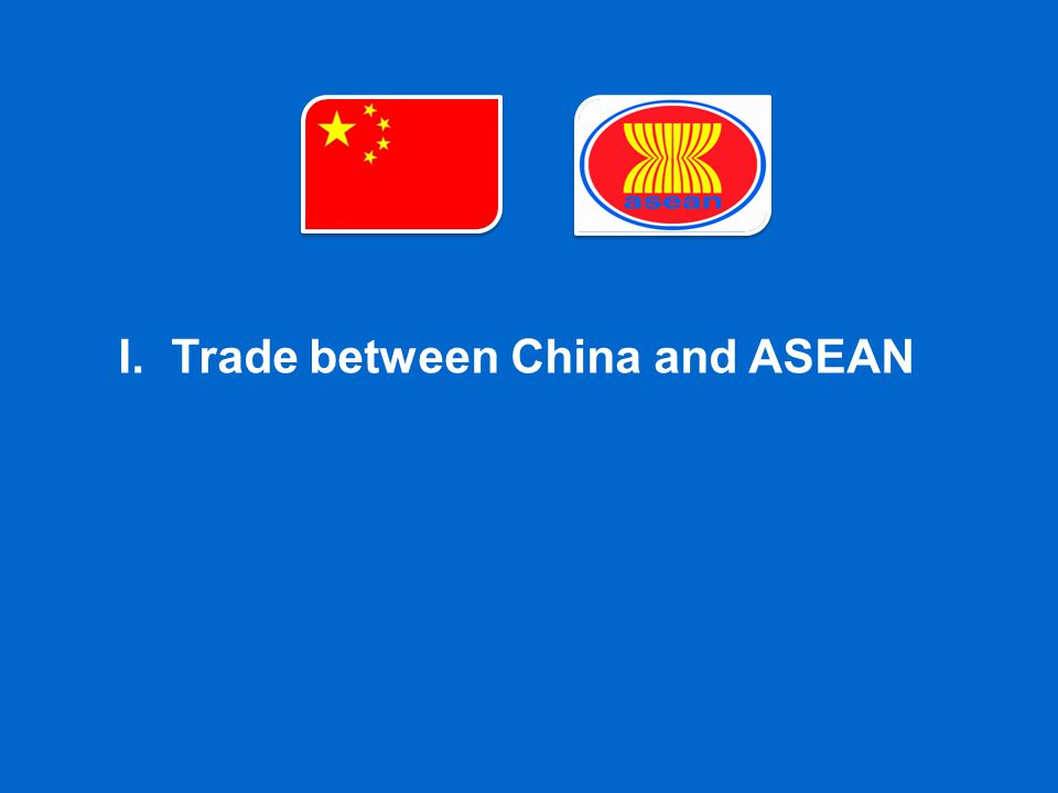 I.Trade between China and ASEAN