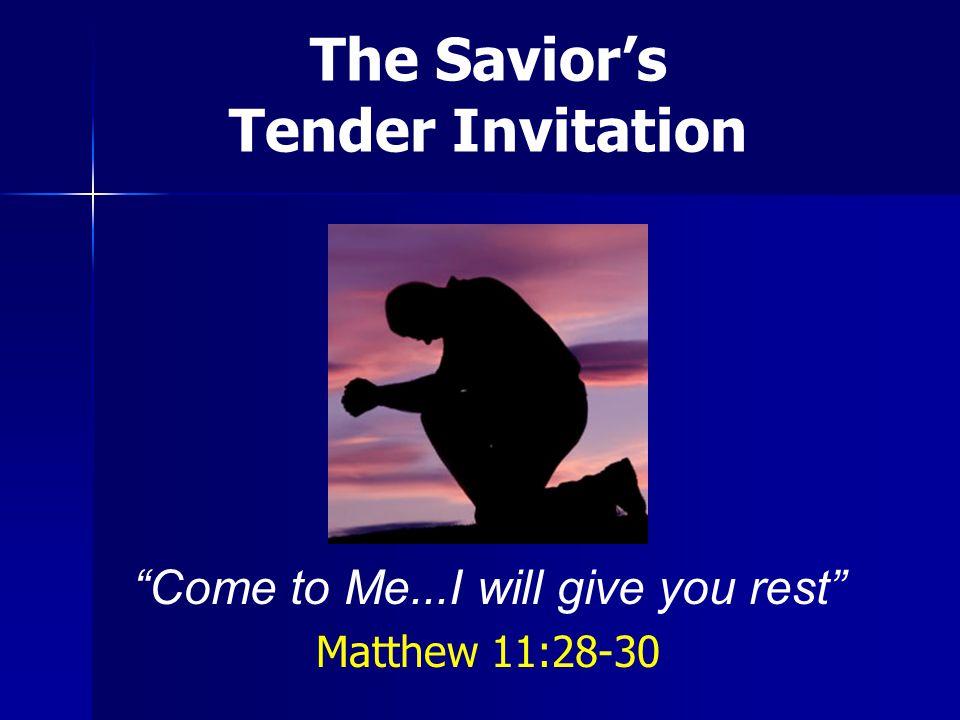 Jesus speaks to those burdened...