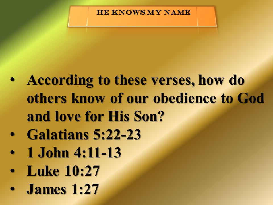 According to these verses, how do others know of our obedience to God and love for His Son.
