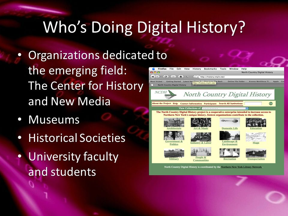 Who's Doing Digital History.