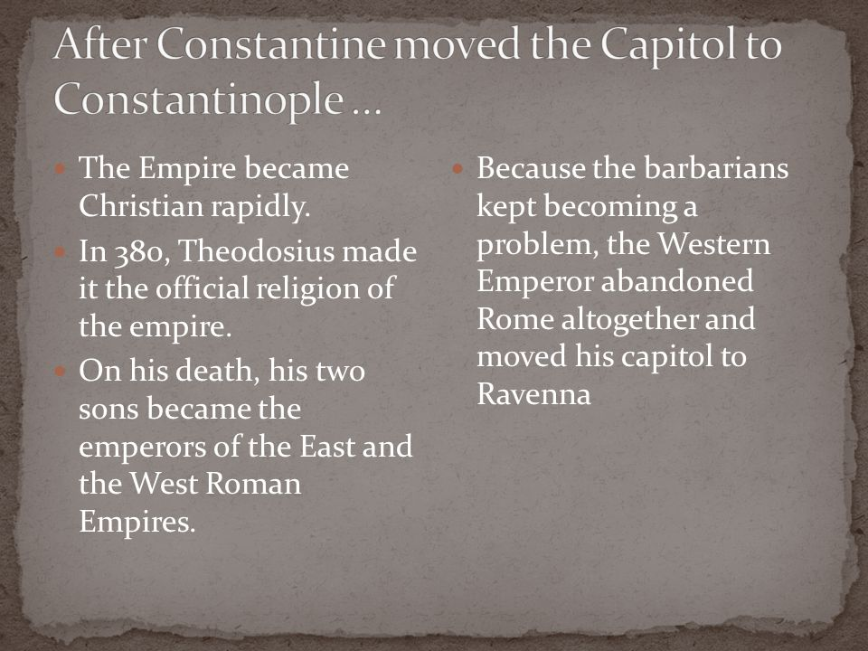 The Empire became Christian rapidly.