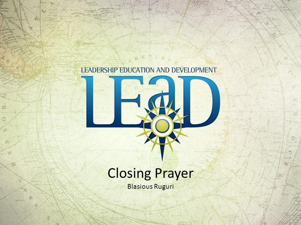 Closing Prayer Blasious Ruguri