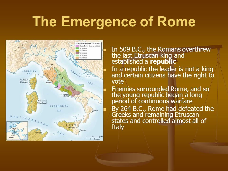 The Emergence of Rome To rule, the Romans devised the Roman Confederation Some people had full Roman citizenship Other groups were allies who controlled their local affairs but gave soldiers to Rome Such people could become Roman citizens Thus many of the conquered peoples felt invested in Rome's success