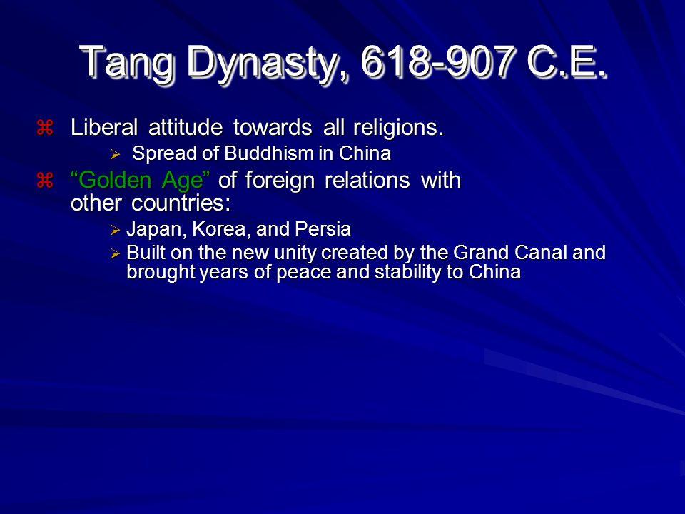 Song Dynasty, 960-1279 C.E. Creation of an urban, merchant, middle class.