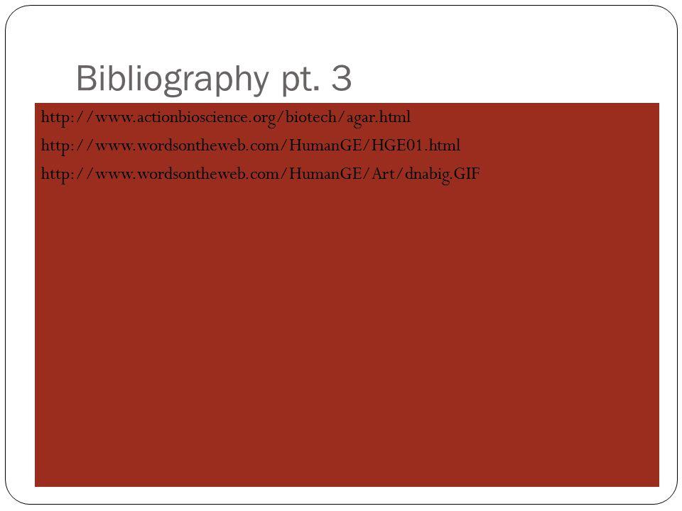 Bibliography pt.