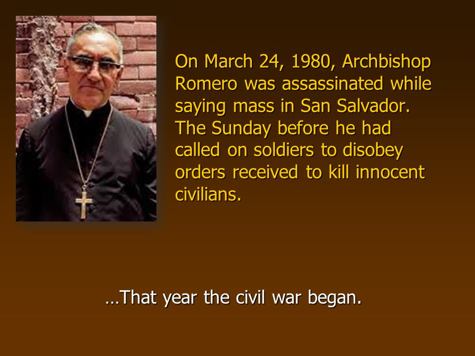 Later that same year four U.S.churchwomen in El Salvador are abducted and killed.