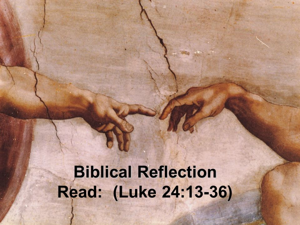 Biblical Reflection Biblical Reflection Read: (Luke 24:13-36)
