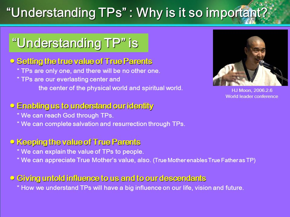 Understanding TPs : Why is it so important.