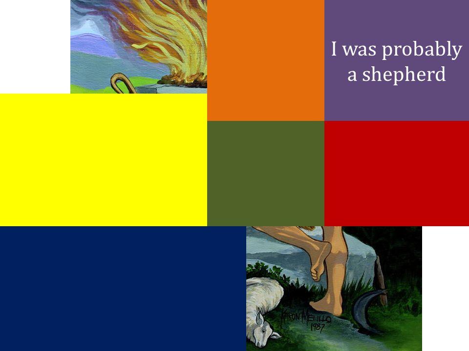I was probably a shepherd