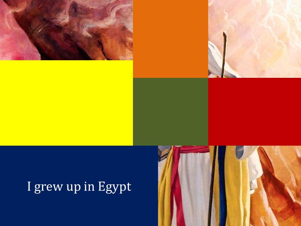 I grew up in Egypt