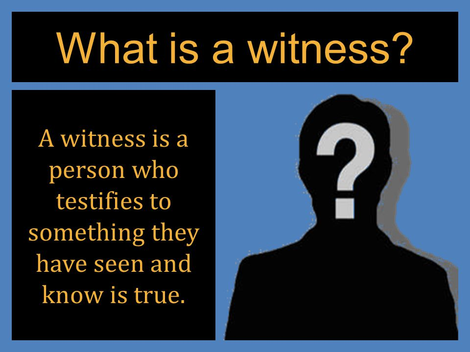 Who are these Witnesses? The author of Hebrews offers a partial list in Chapter 11.