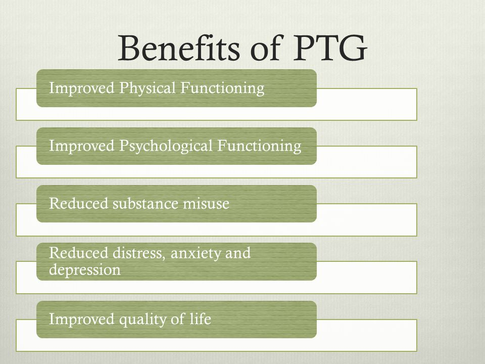 PTG GenderAge Coping styles SESEducation Trauma severity Personality traits Time since trauma Social support Rumination