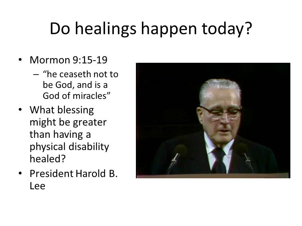 Do healings happen today.