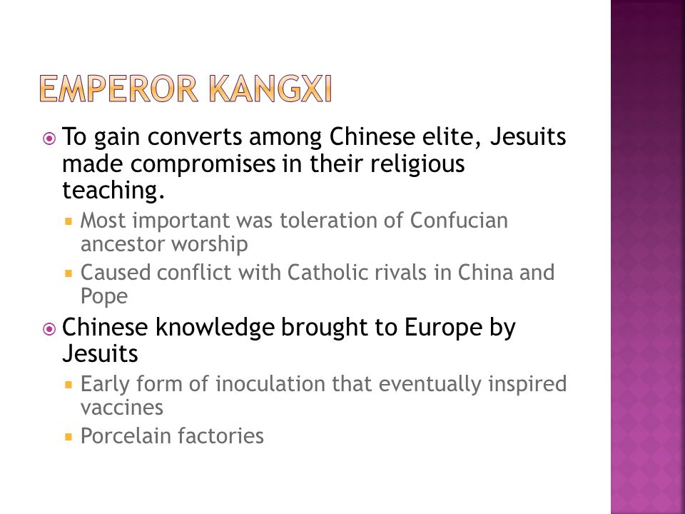  To gain converts among Chinese elite, Jesuits made compromises in their religious teaching.