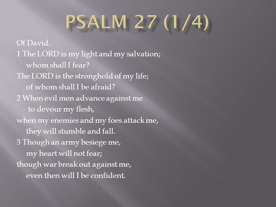 11 Teach me your way, O LORD; lead me in a straight path because of my oppressors.