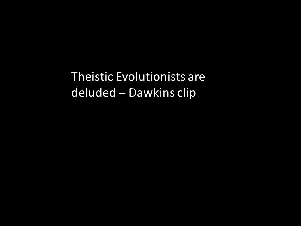 Theistic Evolutionists are deluded – Dawkins clip