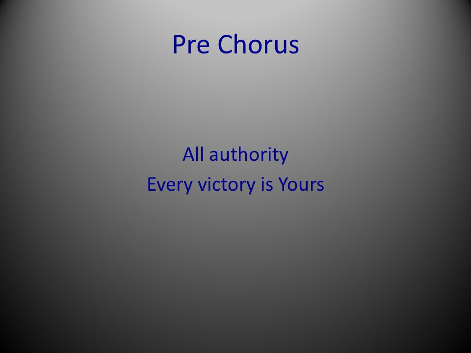 Chorus Savior worthy of honor and glory Worthy of all our praise You overcame