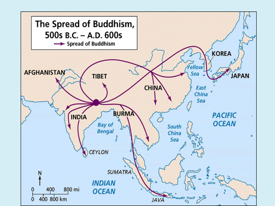 IV. Buddhism A. Spread throughout Southeast Asia B. Buddhists built Stupas to hold relics