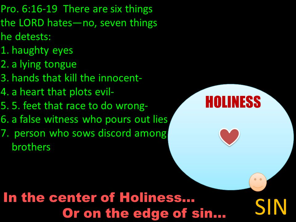 In the center of Holiness… Or on the edge of sin… HOLINESS SIN Pro.