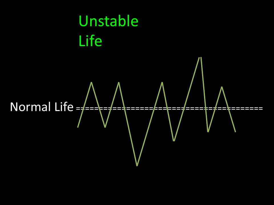Normal Life ========================================= Unstable Life