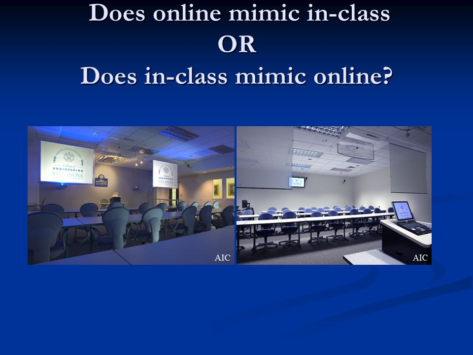 Does online mimic in-class OR Does in-class mimic online.