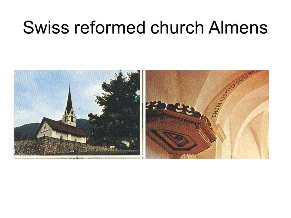 Swiss reformed church Almens