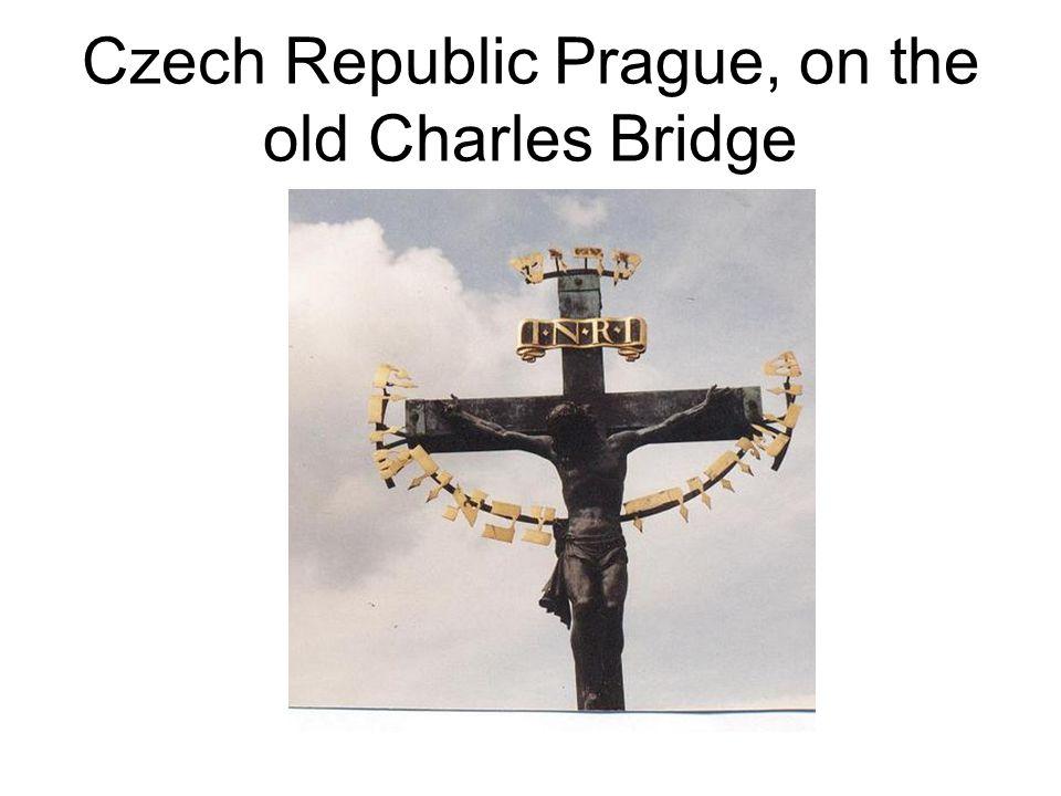 Czech Republic Prague, on the old Charles Bridge