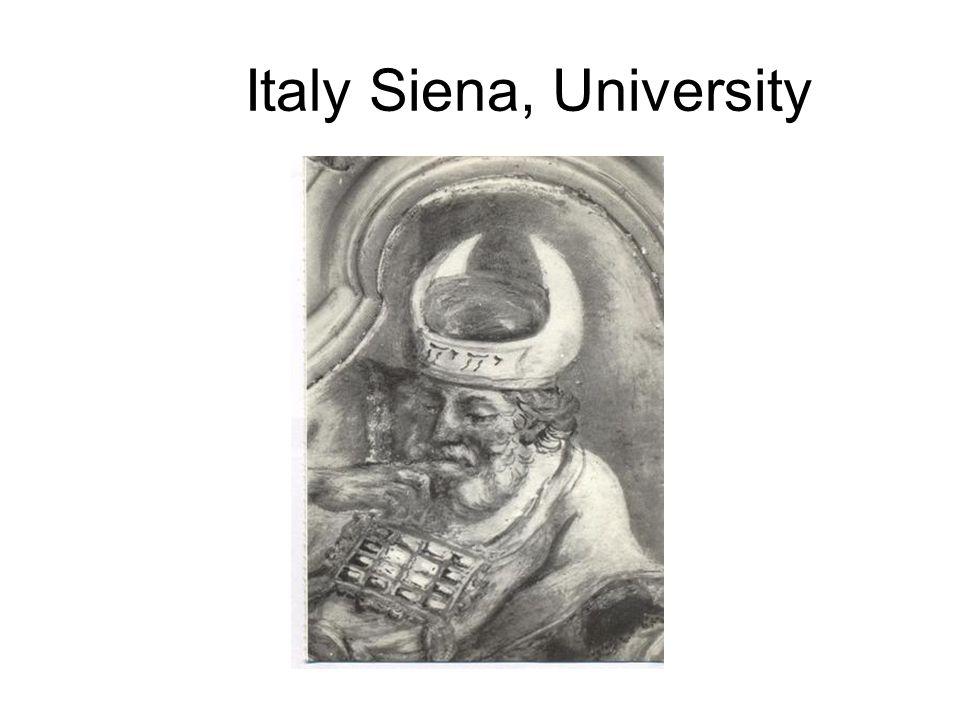 Italy Siena, University