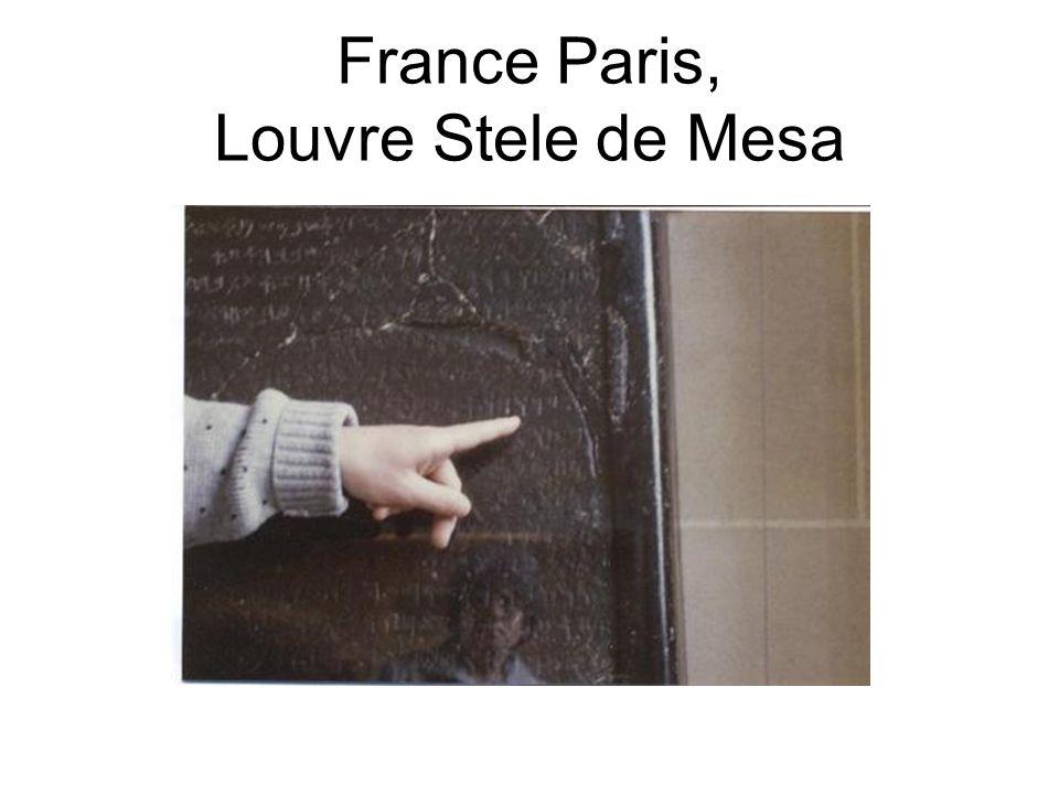 France Paris, Louvre Stele de Mesa