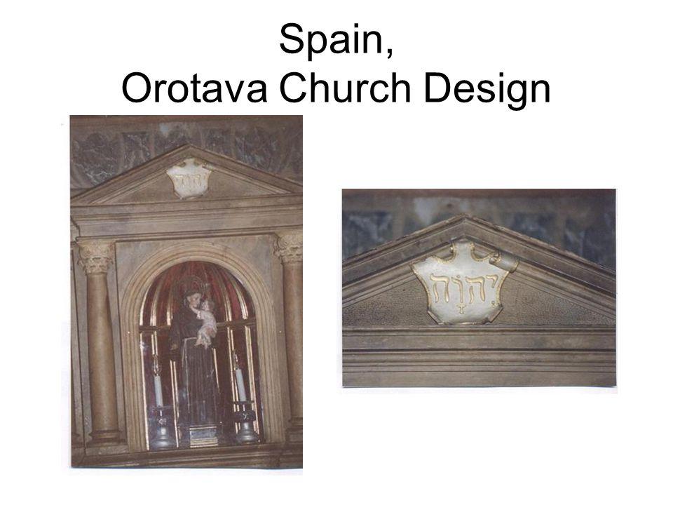 Spain, Orotava Church Design