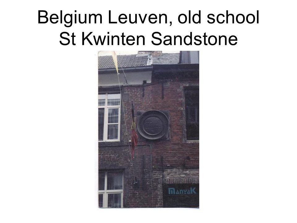 Belgium Leuven, old school St Kwinten Sandstone