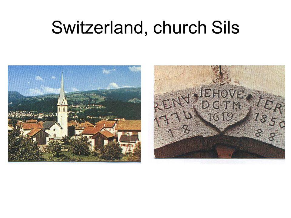 Switzerland, church Sils