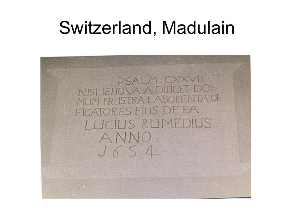 Switzerland, Madulain