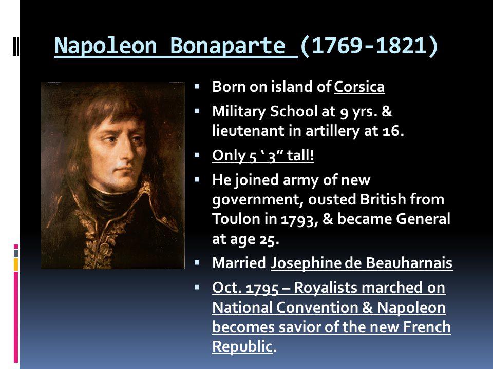 A Military Genius  1796 – the Directory sends him vs.