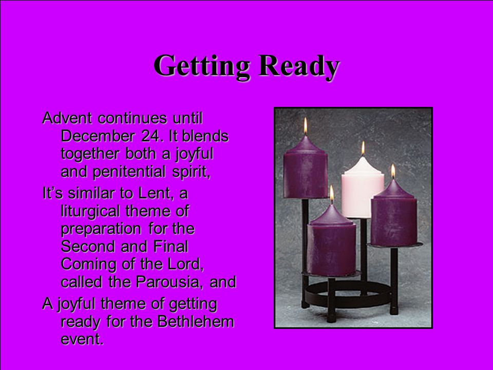 Advent Scriptures Scripture readings for Advent will reflect an emphasis on the Second Advent, they including themes of :Scripture readings for Advent