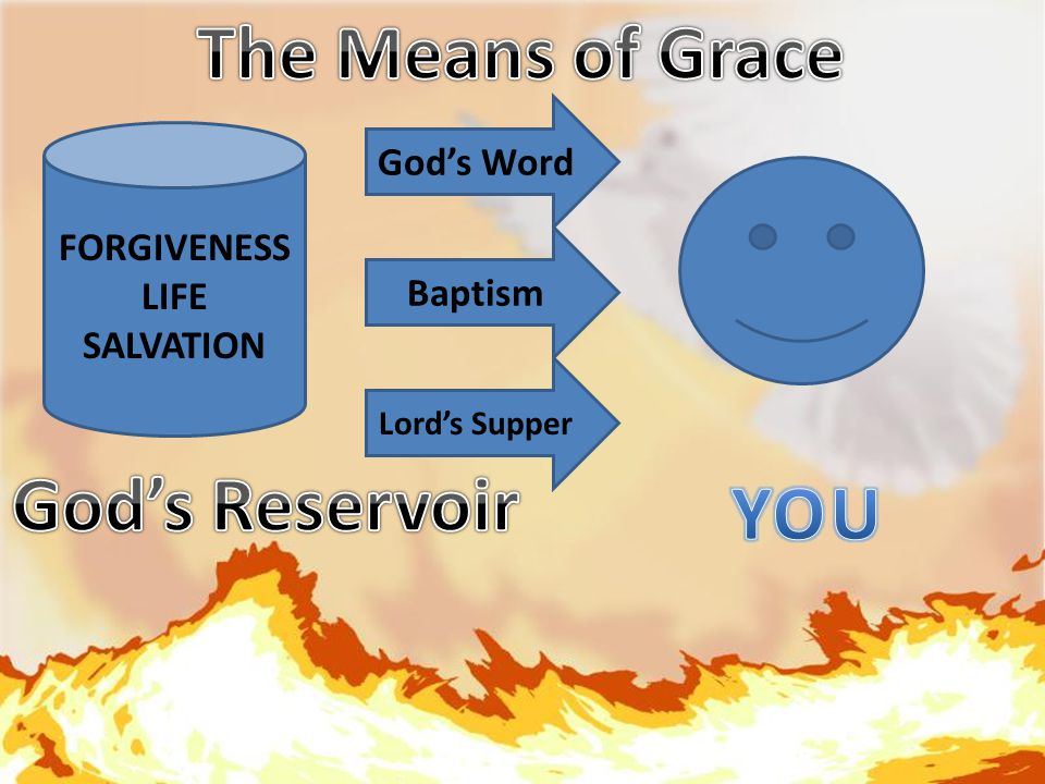 FORGIVENESS LIFE SALVATION God's Word Baptism Lord's Supper