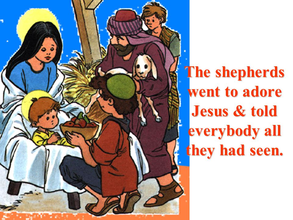 You will find an infant wrapped in swaddling clothes & lying in a manger.
