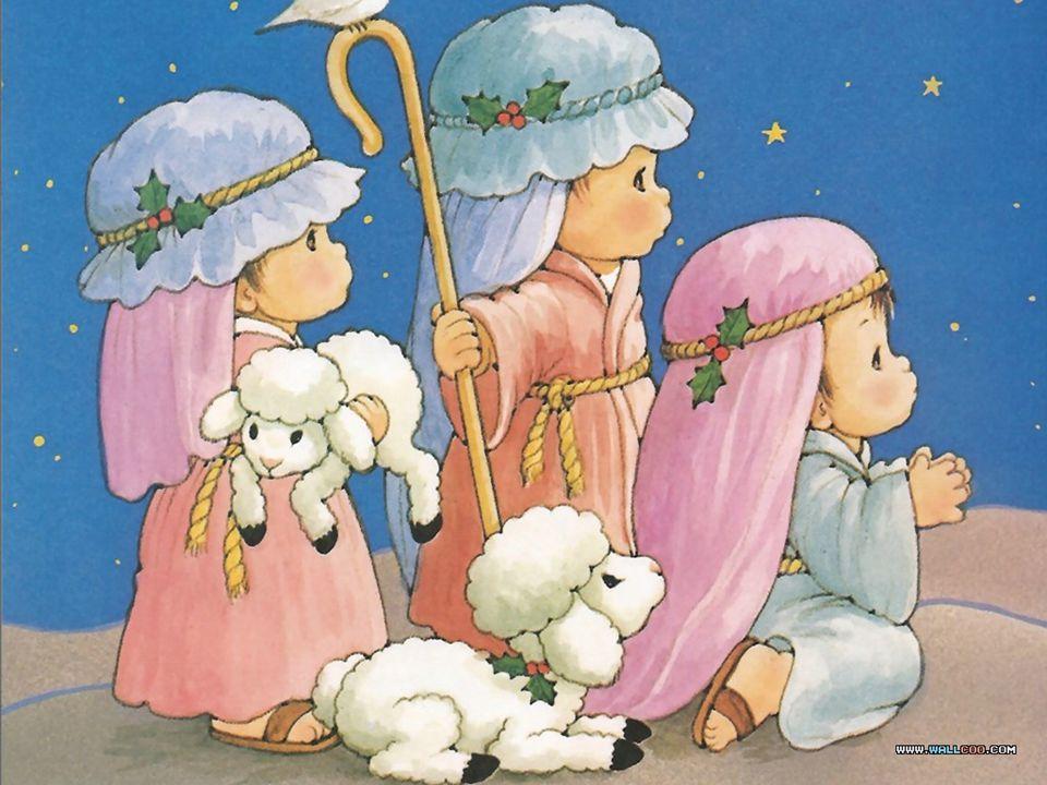 Shepherds Visit Jesus That night, some shepherds were in the fields near Bethlehem, keeping watch over their flocks of sheep.