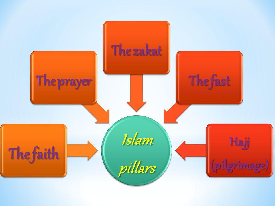 Islam pillars The faith The prayer The zakat The fast Hajj (pilgrimage)