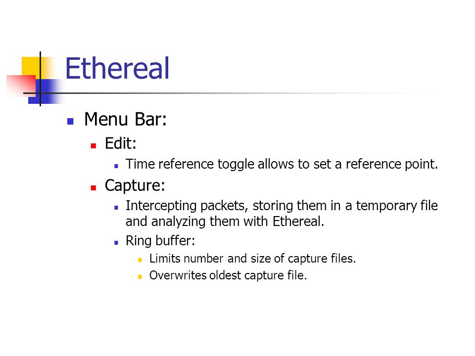 Ethereal Menu Bar: Edit: Time reference toggle allows to set a reference point.