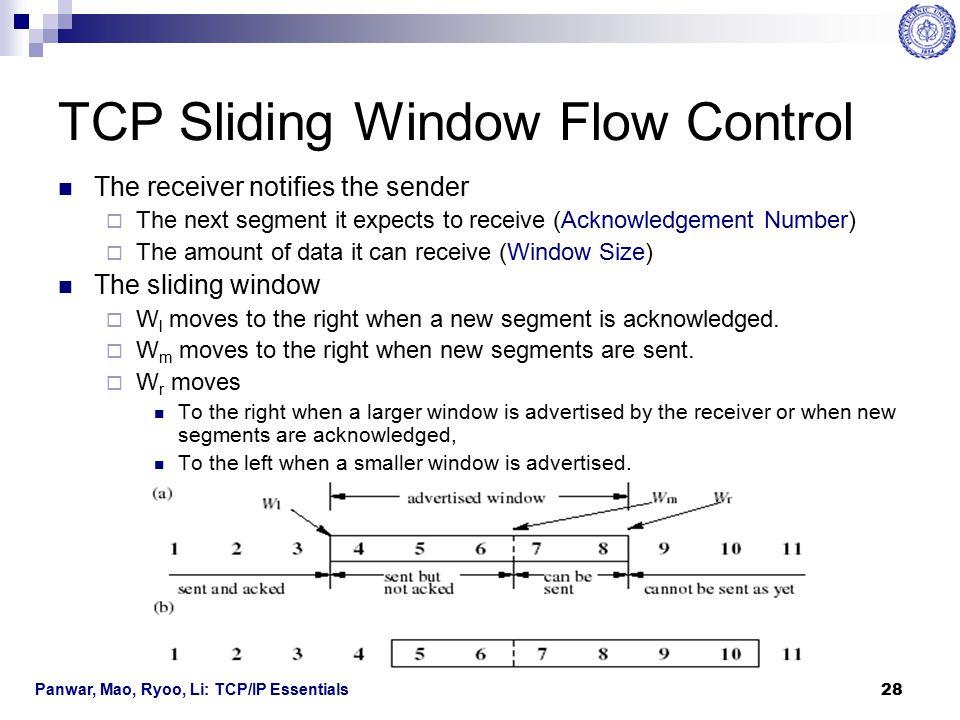 Panwar, Mao, Ryoo, Li: TCP/IP Essentials 29 TCP Congestion Control TCP uses a congestion control to adapt to network congestion and achieve a high throughput.