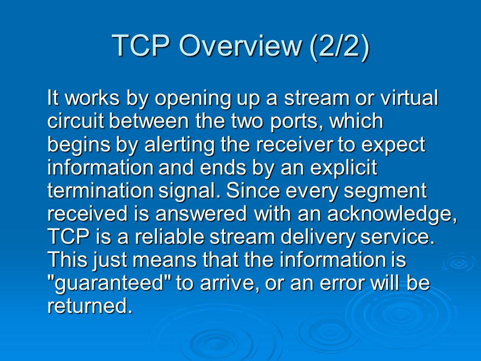 TCP Disconnection