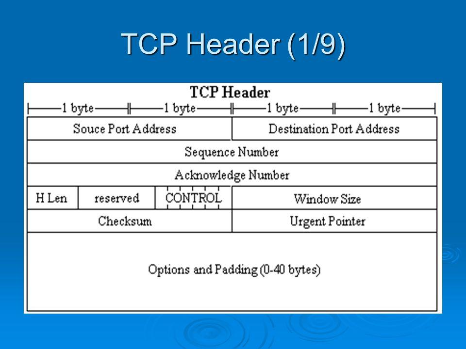 TCP Header (1/9)