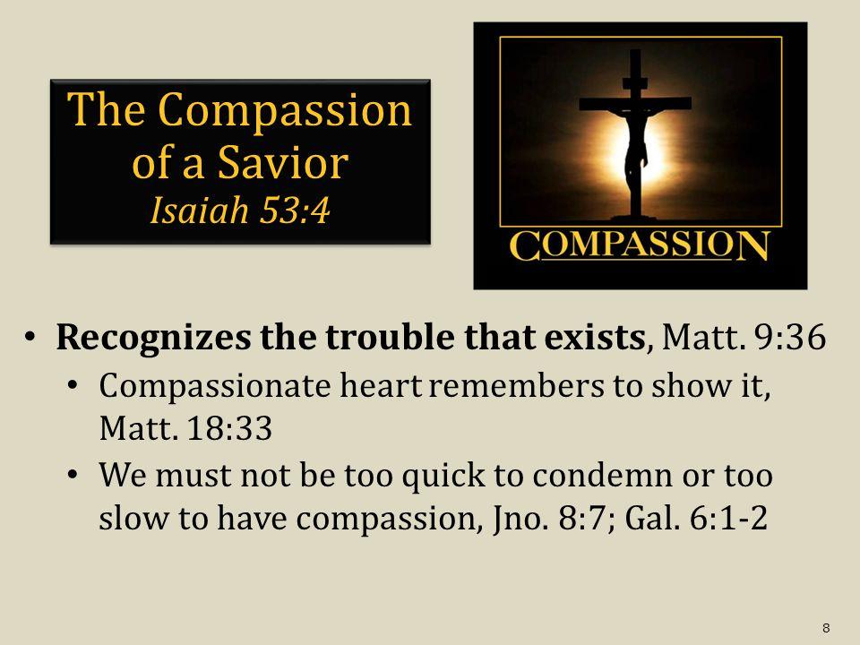 9 The Compassion of a Shepherd Isa.40:11; Ezek. 34:15-16 (Matt.