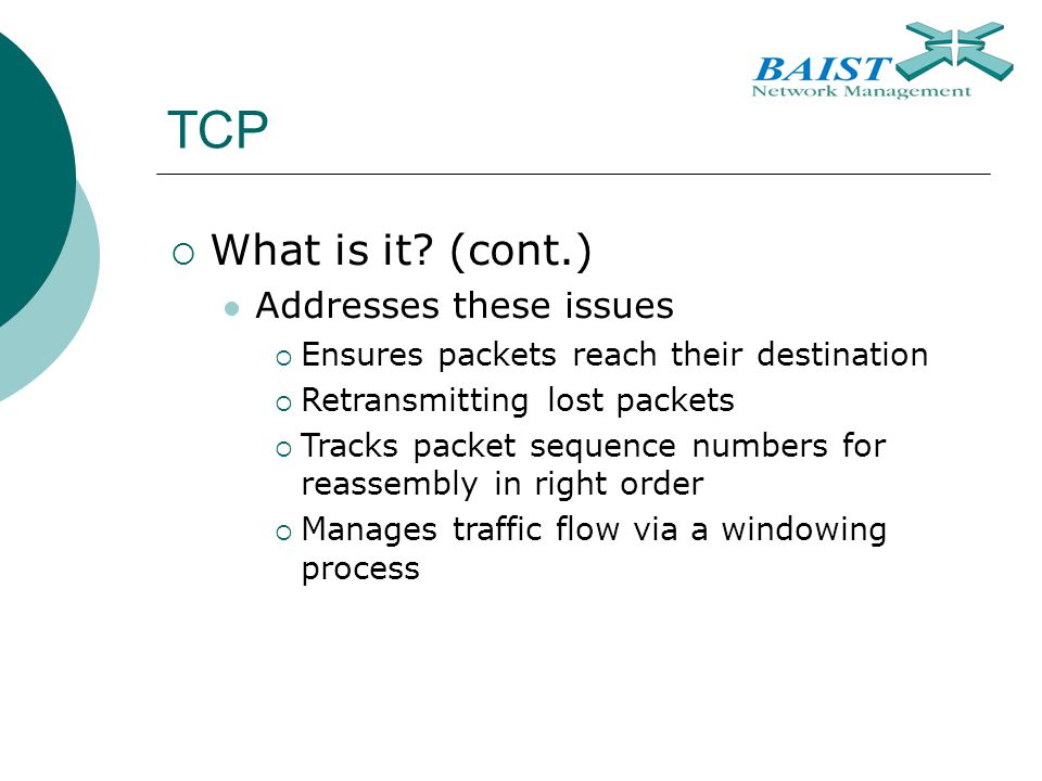 TCP  What is it.